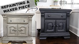 Paint Over Wax Finish | Black Paint With White Wax