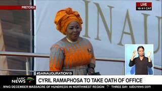 #INAUGURATION19 I Former pres. Zuma sends wife Bongi Ngema-Zuma