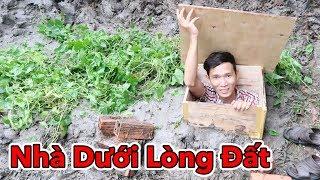 Lâm Vlog - Thử Làm Nhà Dưới Lòng Đất | Build Underground House