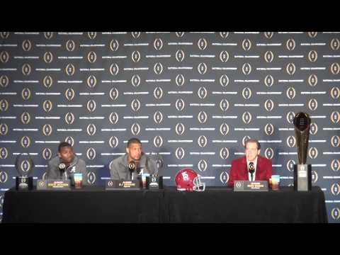 Alabama 2016 College Football National Championship winning press conference *Raw*