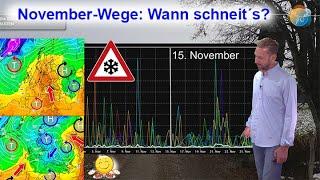 Wechselhafter Spätherbst: Wie wird das Wetter im November? Wann fällt ungefähr der erste Schnee?
