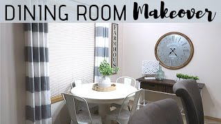 SMALL DINING ROOM MAKEOVER & DIY | DECORATE WITH ME | DINING ROOM DECORATING IDEAS | CRISSY MARIE