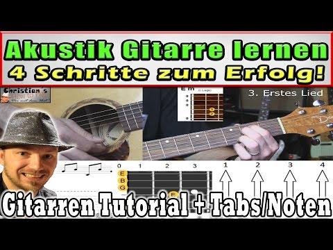 ★Akustik Gitarre spielen lernen für Anfänger ! 4 Schritte zum Erfolg ! Lied: Zombie - Cranberries