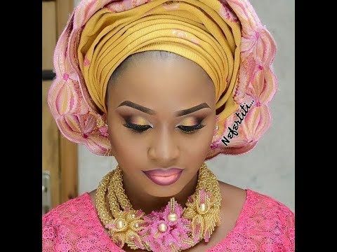 Latest #Gele #Make-up And #Asoebi Styles: #BeautyQueen #Africanslay