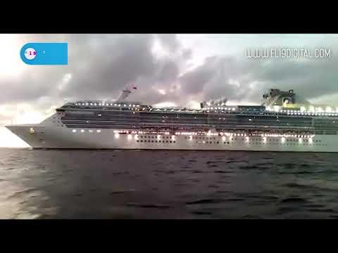 Llegada al puerto de San Juan del Sur el crucero Coral Princess
