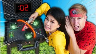 Our HOUSE will EXPLODE if we CUT WRONG WIRE! Brother Casey Helps YouTubers vs EMP Escape