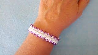 Bracciale Con Perle Ad Uncinetto Crochet Bracelet Pearl - Brazalete Perlas Crochet Pulsera Crochet