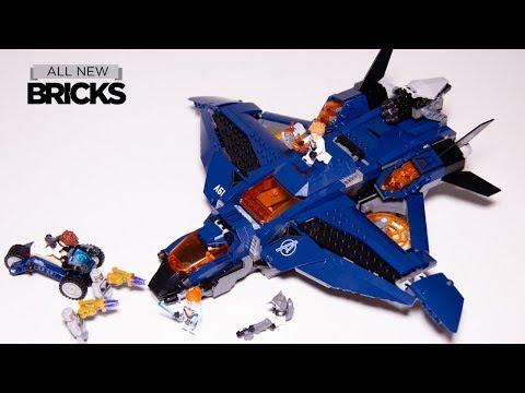 Vidéo LEGO Marvel 76126 : Le Quinjet des Avengers