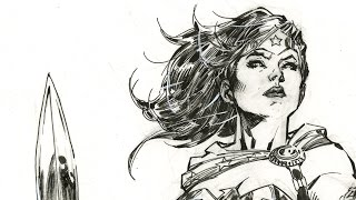 DC Comics Wonder Woman - Jim Lee Drawing Timelapse