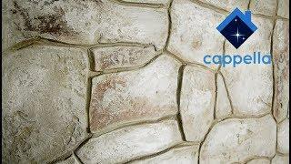 Декор под камень. Покраска камня. Штамп - матрица Cappella. Stone Matrix Cappella.
