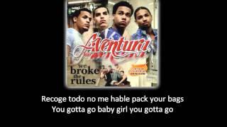 Aventura - I Believe 'Yo Creo' (lyric - letra)