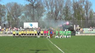 preview picture of video 'Tłuszcz: TKS Bóbr Tłuszcz - Mazur Radzymin - przywitanie piłkarzy (28.04.2012)'