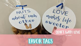 How to make favor tags with Cricut Design Space   Craft with Love