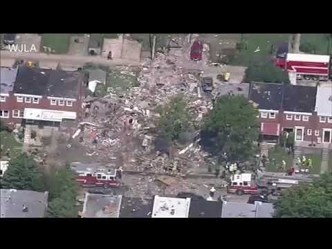Baltimore explosion: Gas explosion in Baltimore levels 3 homes; 1 killed, several injured