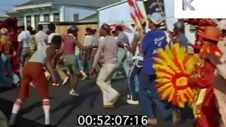 1970s New Orleans, Mardi Gras Street Party, Dancing