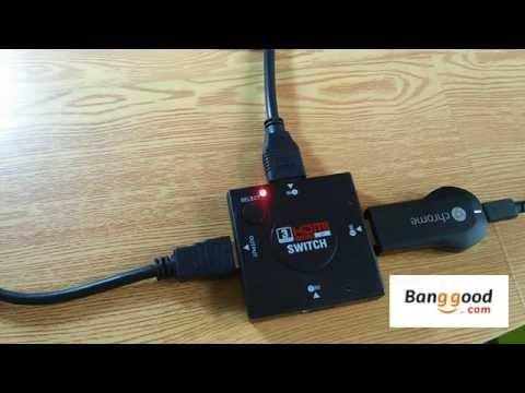 3 puertos HDMI Switch Conmutador de Splitter para HDTV 1080p Puerto HDMI Switch Conmutador