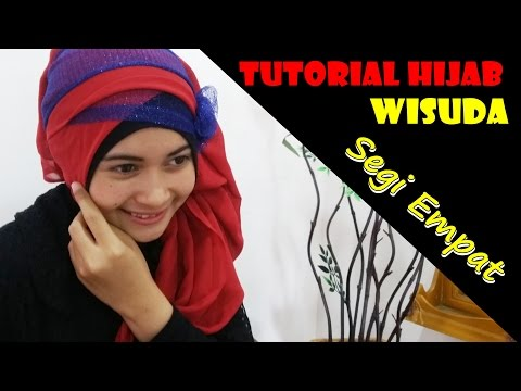Video Tutorial Hijab Wisuda Segi Empat Modern dan Simple by Nica # 185