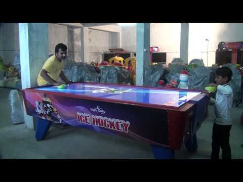 Ice Air Hockey Arcade Game - Acrylic Top