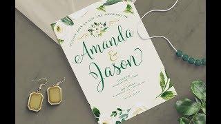 PHOTOSHOP TUTORIAL | How To Create A Wedding Invitation Design