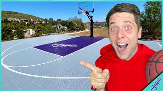 IT'S FINALLY HERE! New Basketball Court Reveal!