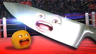 Annoying Orange Vs The World's Largest Knife!!