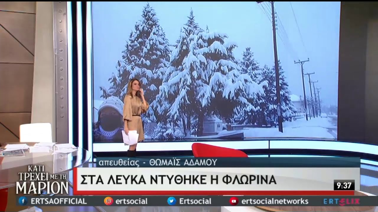 Στα λευκά ντύθηκαν Φλώρινα και Θεσσαλονίκη   16/01/2021   ΕΡΤ