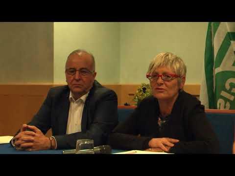 La conferenza stampa di Annamaria Furlan al convegno sul lavoro a Torino