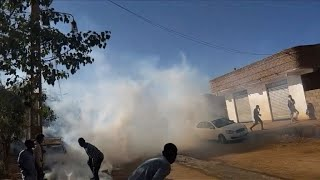 Sudanese protesters face down tear gas