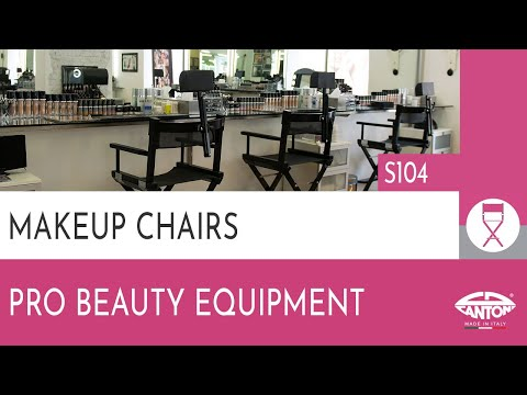 video S104 FOLDABLE MAKE UP CHAIR IN WOOD