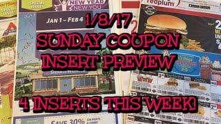 1/8/17 Coupon Insert Preview.... 4 Inserts this Week!  Lots & Lots of coupons!
