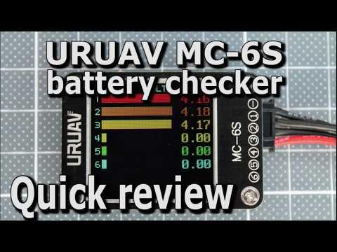 URUAV MC-6S battery checker | Quick review