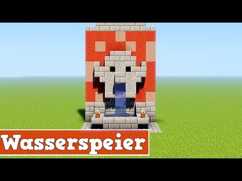 Wie baut man einen Wasserspeier in Minecraft 1.14   Minecraft 1.14 Wasserspeier Bauen