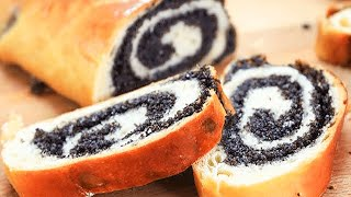 German Poppy Seed Roll Made With The Traditional Mohnstrietzel Recipe!