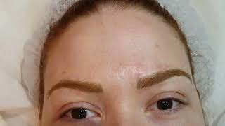 Strawberry Blonde Alopecia 3D Realism Microlading Eyebrows by El Truchan @ Perfect Definition London