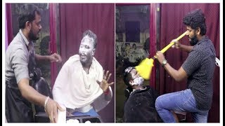 Saloon prank Tamil | Hair cutting prank in india  | prank tamil