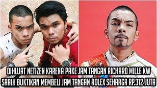 Dihujat Netizen karena Pake Arloji Richard Mille KW, Saaih Buktikan Membeli Arloji Rolex Rp.312 Juta