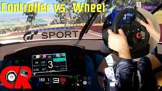 Gran Turismo Sport - Controller vs Steering Wheel