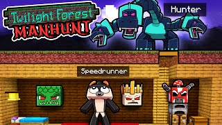 Manhunt Twilight Forest! (Speedrunner vs Hunters)