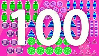 Count to 100 with Candy – Fun Kids Animated Counting to 100 Video Learn Shapes Learn Colors