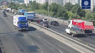 В Киеве у маршрутки на ходу отвалились колеса. ВИДЕО