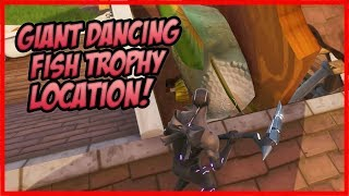 Visit a Giant Dancing Fish Trophy Location! (SEASON 9, WEEK 2) - Fortnite Battle Royale