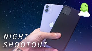 Google Pixel 4 vs Apple iPhone 11 Low Light Fight: Return of the Night King