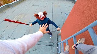 Horror Clowns VS Parkour POV | Halloween Chase III
