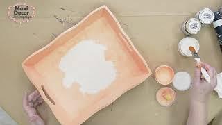 Διχρωμία Chalky paint με μοτίβο Γρανίτη και Υγρό γυαλί.