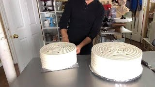 Supporting and Stacking a 5 tier Wedding Cake