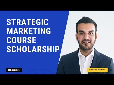 Strategic Marketing Course - Scholarship Announcement - YouTube