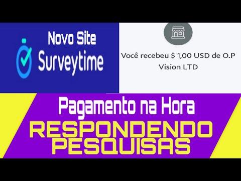 SurveyTime! Pagou R$ 3.92 no Paypal - Dinheiro na Hora Respondendo Pesquisas\Money no Paypal/
