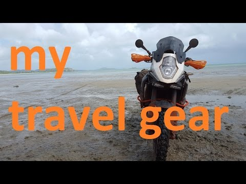 My motorbike travel gear