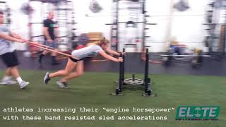 Athlete Band Resisted Sled Accelerations