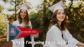 College Decision Reveal 2020 (where I'm going to school!!!)